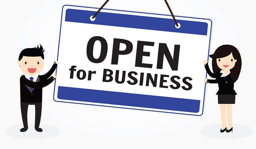 open for biz