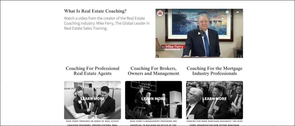 Mike Ferry real estate coach