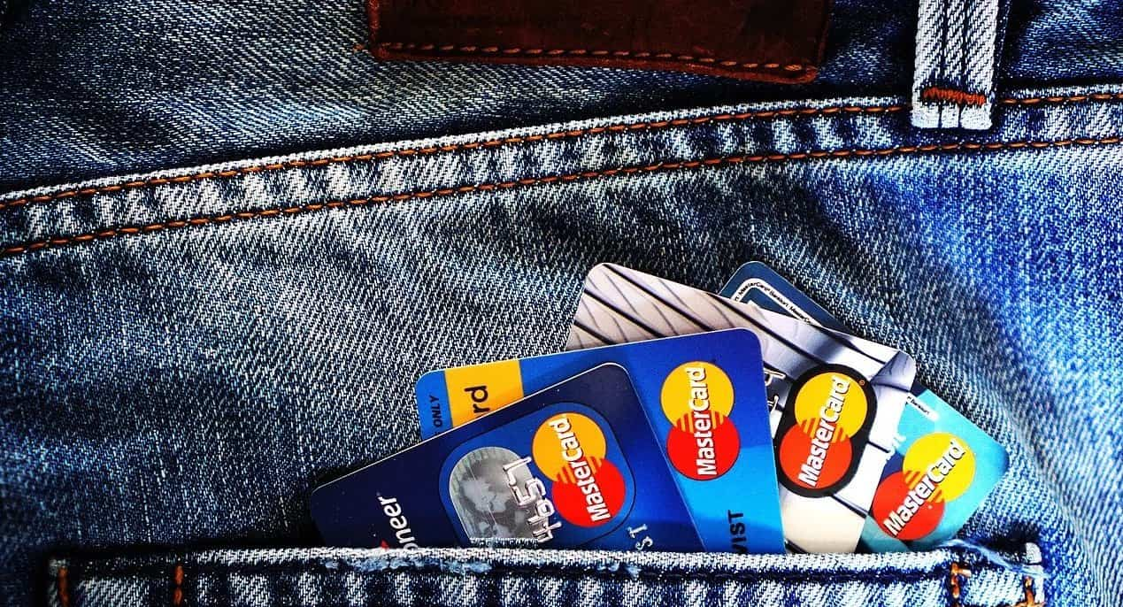 credit cards in back pocket of jeans