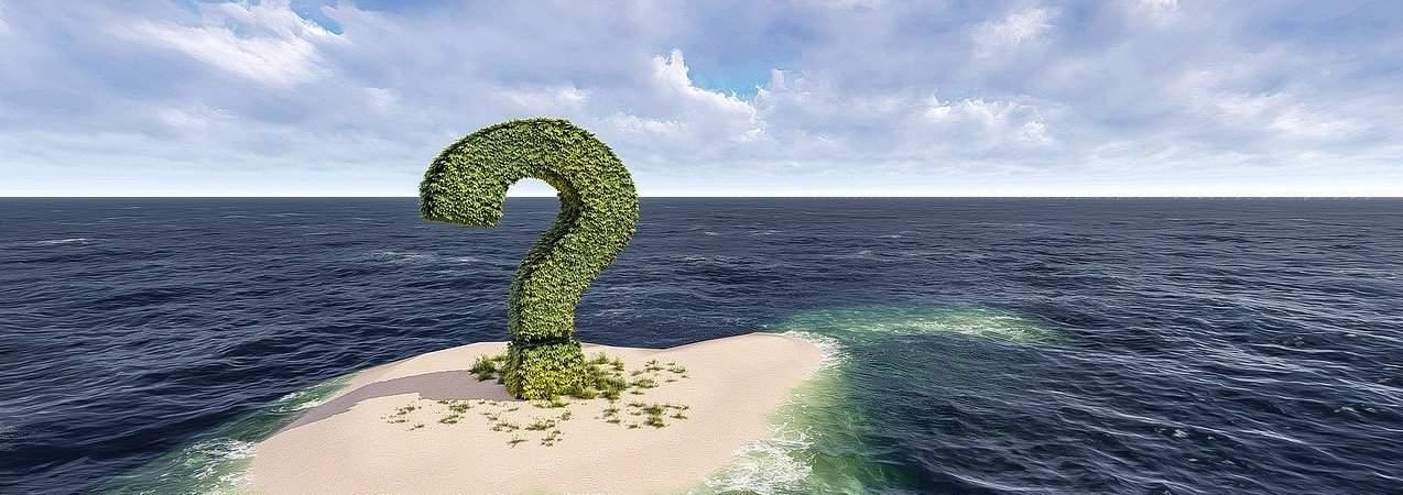 green question mark on am island