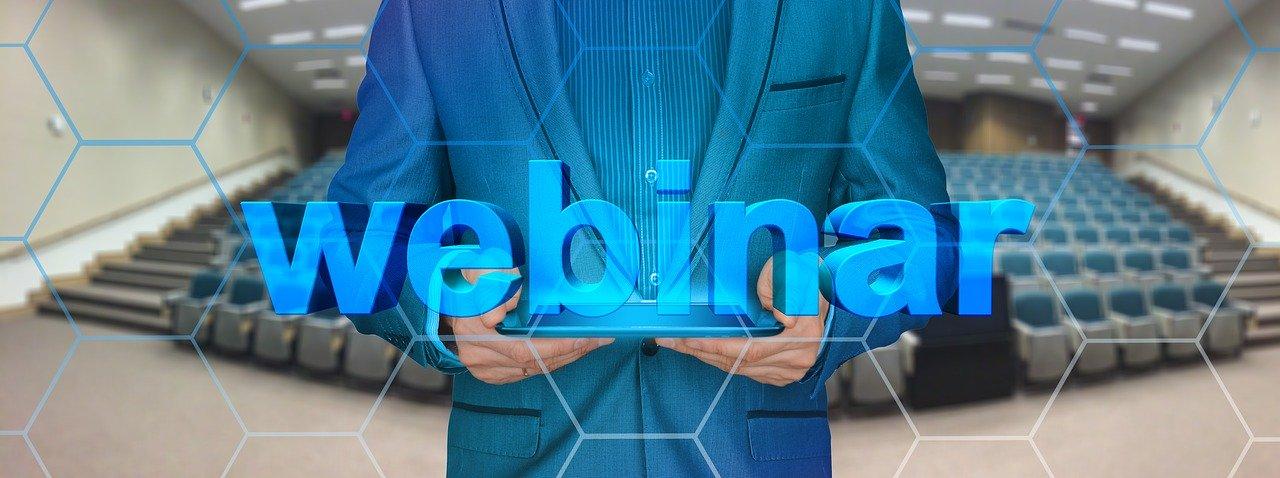 webinar graphic in blue