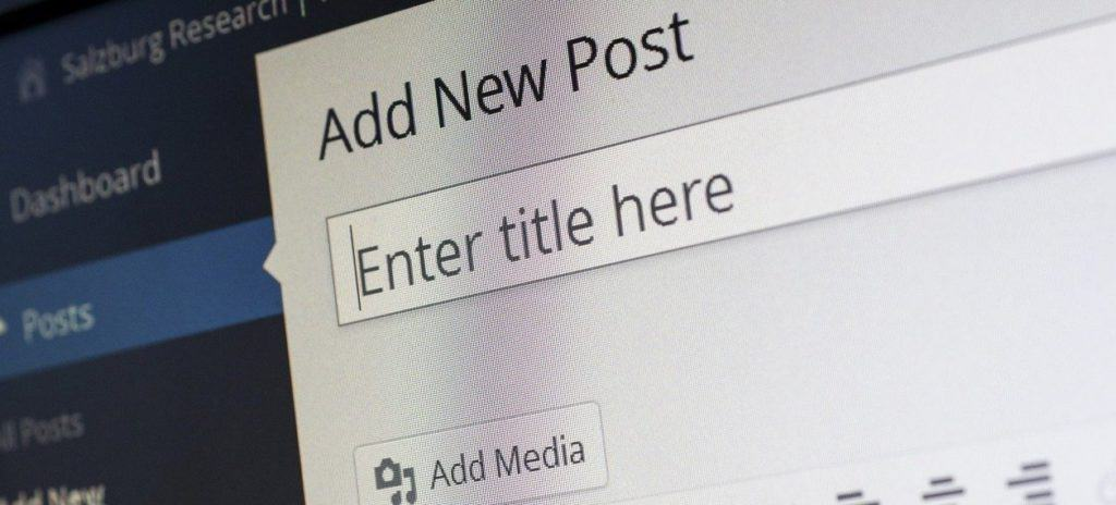 blog post title bar