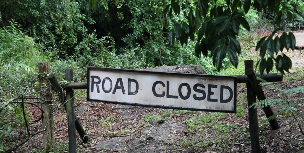 301 redirect road closed